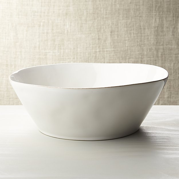 Marin White Large Serving Bowl | Crate and Barrel
