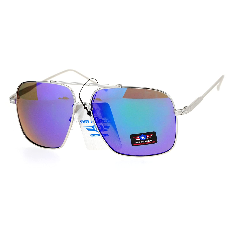Air Force Sunglasses Unisex Retro Fashion Metal Square Aviators UV 400