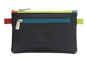 PETIT souple véritable cuir doux Porte-monnaie porte carte de Crédit Porte-monnaie porte clé - Marron bcWjp