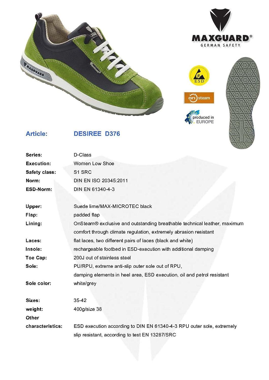 Maxguard DESIREE D376, Unisex-Erwachsene Sicherheitsschuhe, EU Grün (Grün), 41 EU Sicherheitsschuhe, - ffa8d3