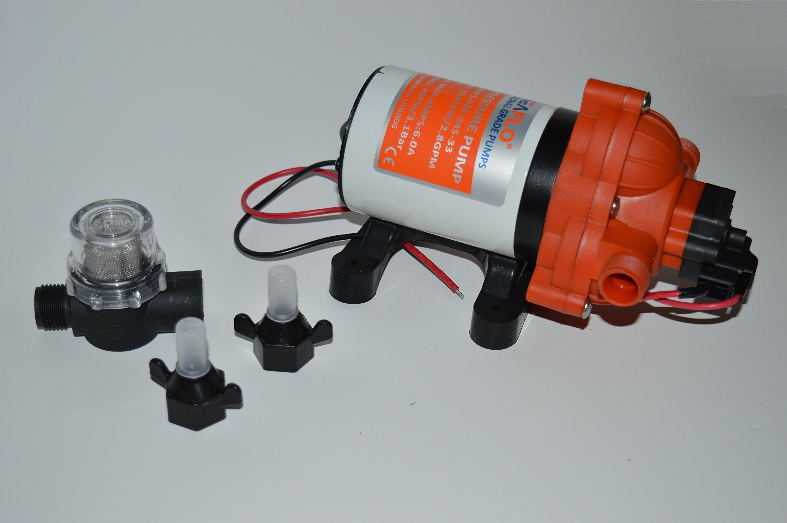 Seaflo 12v 3.0 GPM 45 PSI Water Pressure Pump by SEAFLO
