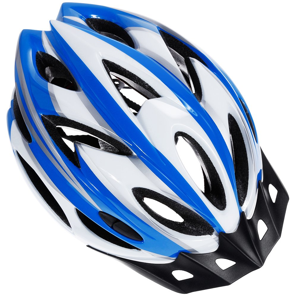 Zacroアダルトバイクヘルメット、CPSC認定サイクルヘルメット、メンズレディース安全保護用 - ブループラスホワイト、ヘッドバンド付きボーナス   B07DKBS96X