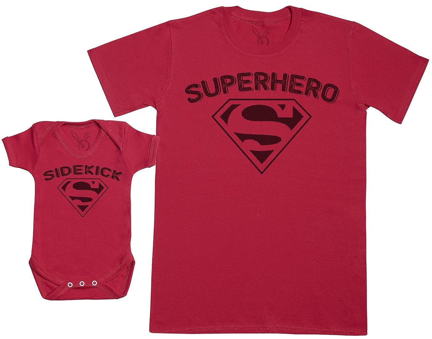 Zarlivia Clothing Sidekick & Superhero - Baby Bodysuit & Father's T-Shirt