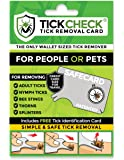 TickCheck Tick Remover Card - Wallet Sized Tick Removal Tool with FREE Tick ID Card & Testing Information - For People, Dogs, Cats