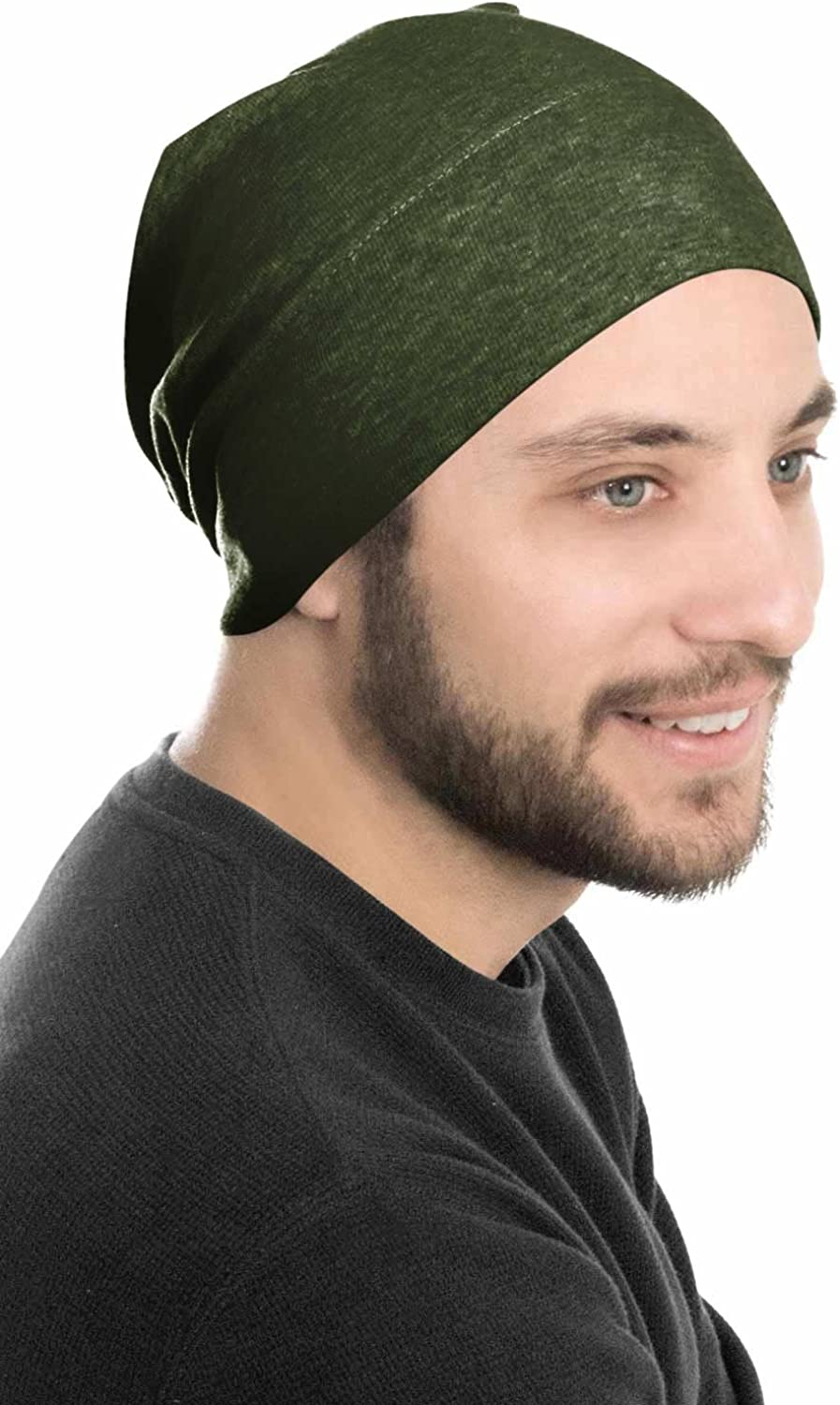 Headcovers Unlimited Mens Relaxed Beanie 100/% Cotton Beanie Hats for Guys