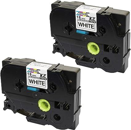 Compatibile Cassette TZe-241 TZ-241 nero su bianco 18mm x 8m Nastro laminato per Brother P-Touch PT-2030VP 2430PC 3600 9600 D400 D450VP D600VP E300VP E550WVP H300 H500 H500LI P700 P750W Etichettatrici