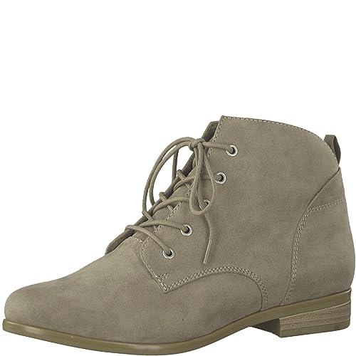 Tamaris 1 1 25106 38 Damen Stiefel, Stiefelette, Schnürstiefel, Schnür Boot, Boot, Herbstschuh für die modebewusste Frau