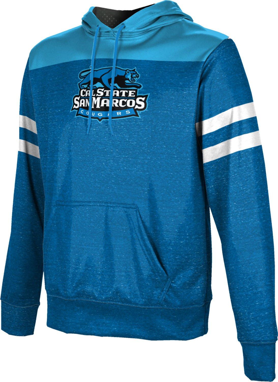 California State University San Marcos Boys' Pullover Hoodie, School Spirit Sweatshirt (Gameday) FD001 Blue and Light Blue