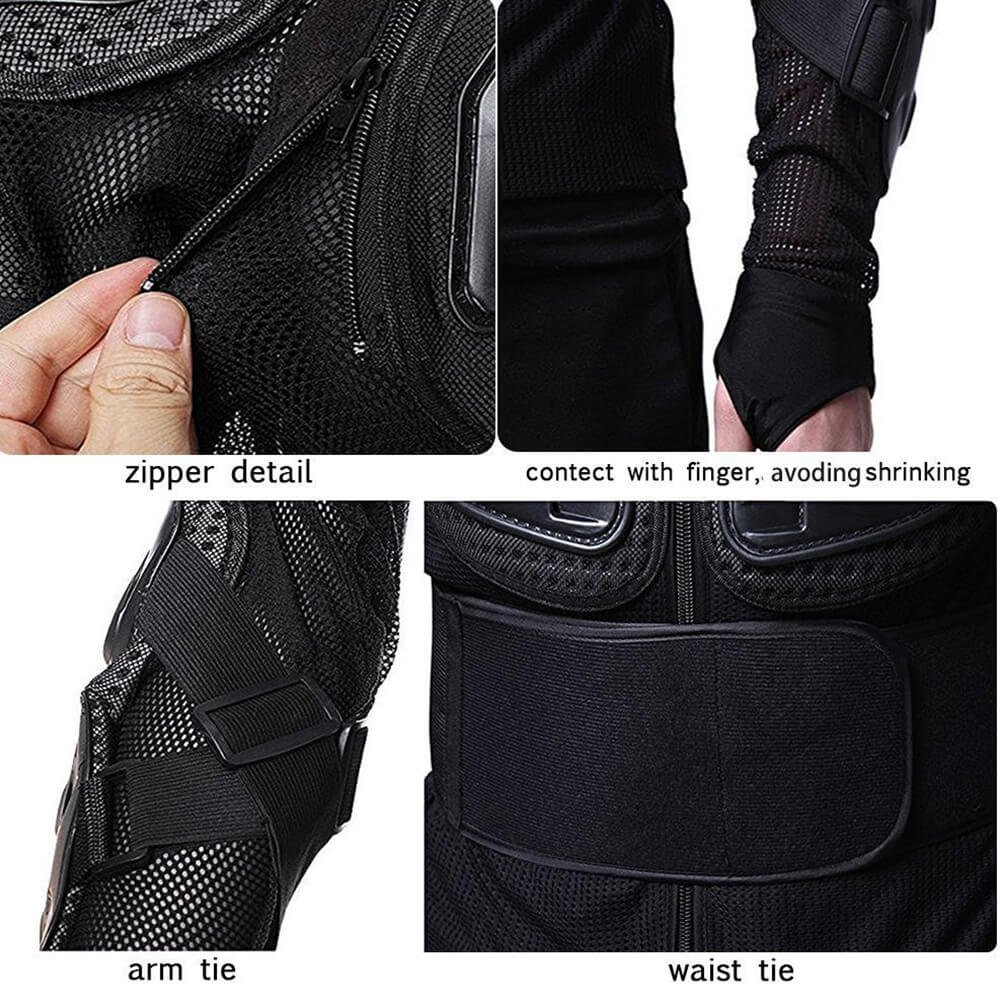 Black, XL Motorcyle Full Body Armor with Chest and Back Protection for Motorbike ATV Sports As Protective Gear Armour ANHORNG Motocross Body Armour