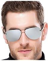 Occhiali da sole unisex, stile aviatore, occhiali da sole moderni con lenti polarizzate, diversi colori tra cui scegliere