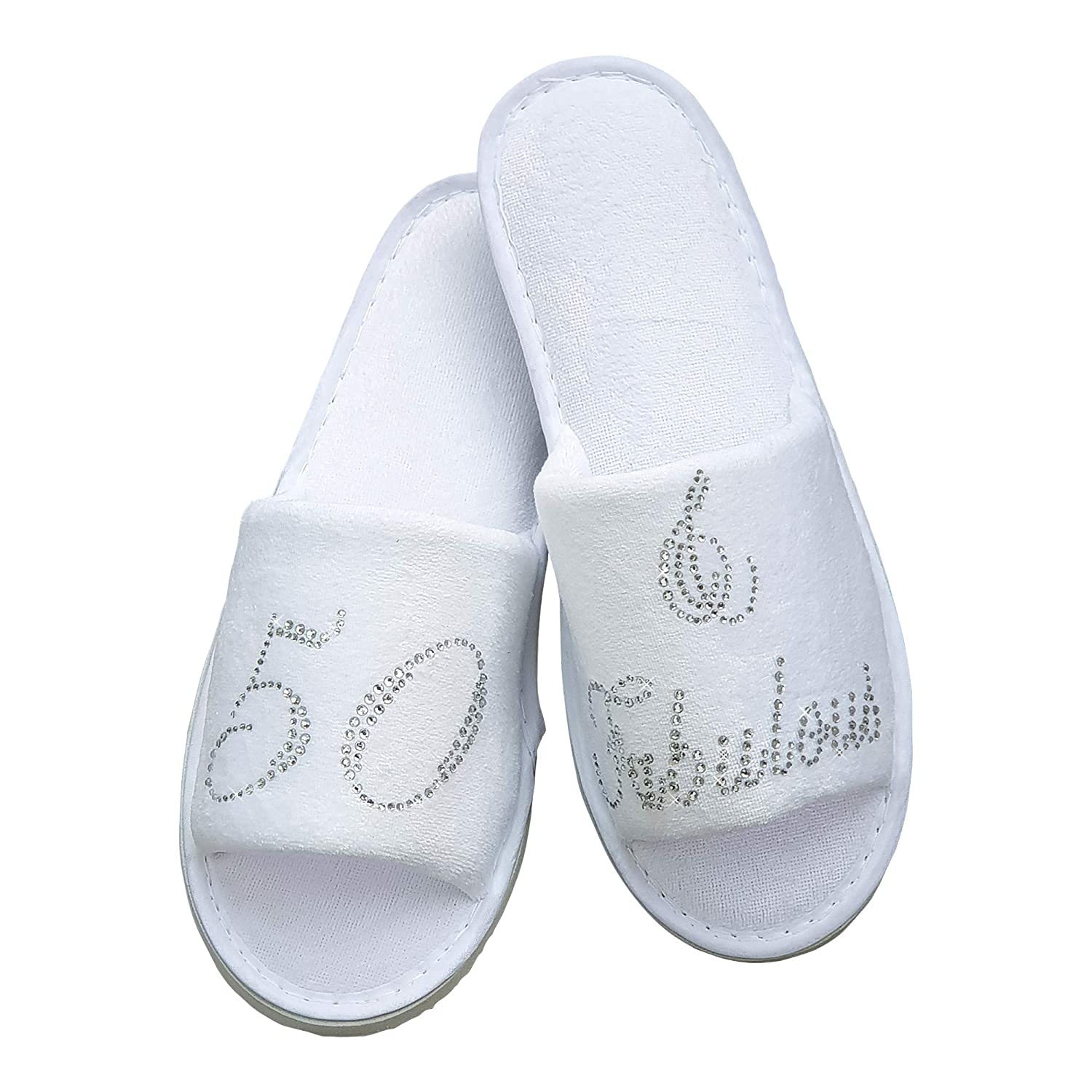 Diamante Sparkling Clear or Red 7-9, 50 /& Fabulous Clear 50th 60th 40th Birthday Velour Slippers 30th