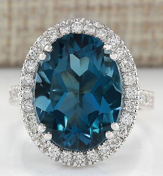 Amazon.com: Wassana Women Fashion London Blue Topaz Gemstone 925 Sterling Silver Ring Bridal Jewelry (6): Home & Kitchen