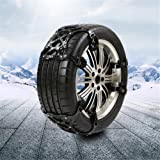 steman--net 自動車タイヤ滑り止めチェーン(作業手袋付き) 3PCSパッケージ 雪道・凍結・砂道・悪路 緊急滑り止めチェーン 高品質TPU+亜鉛合金製品 幅165-265mmタイヤ適用