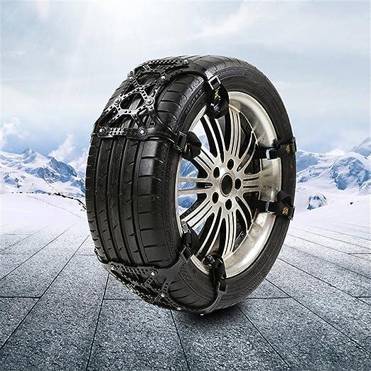 Cadena de nieve antideslizante de 3 secciones, cadena de nieve antideslizante universal para ruedas de coche, camión o SUV para conducir en invierno, ...