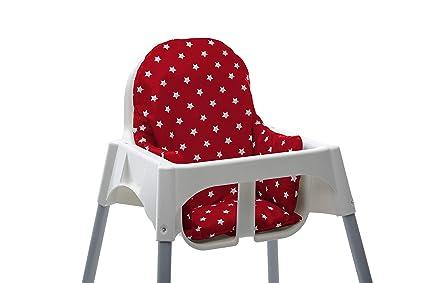 Cojin para trona Ikea Antilop. Facil de instalar y lavar después de las comidas. Tela impermeable. (Floral): Amazon.es: Bebé