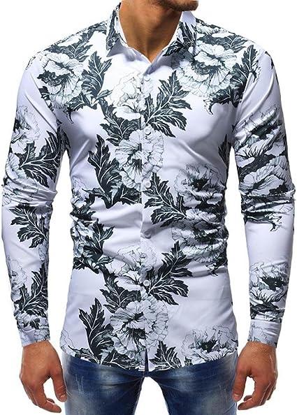 moonuy clásica camisa para hombre Slim Fit Casual y ...