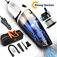 $28 Get Car Vacuum Cleaner, 5000PA Cyclonic High Powerful Wet & Dry Suction Stainless Steel…
