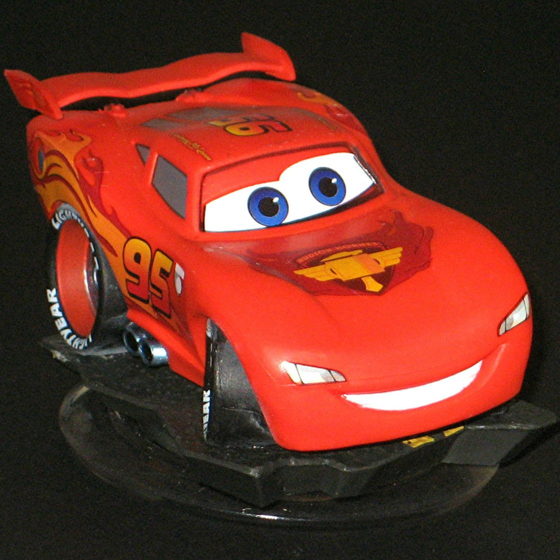 Crystal Clear Lightning McQueen Disney Infinity 1.0 Cars Character Game Figure