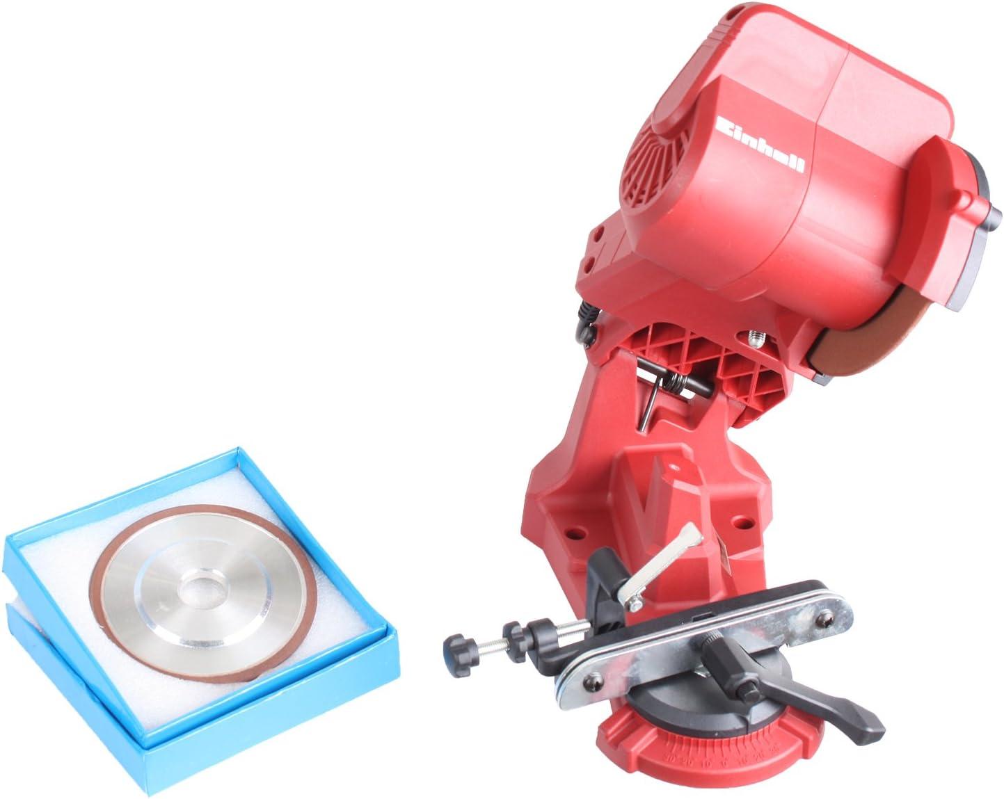 Set Einhell S/ägekettensch/ärfger/ät GC-CS 85 E mit GARDINGER Diamantschleifscheibe 108x3,2x23 mm