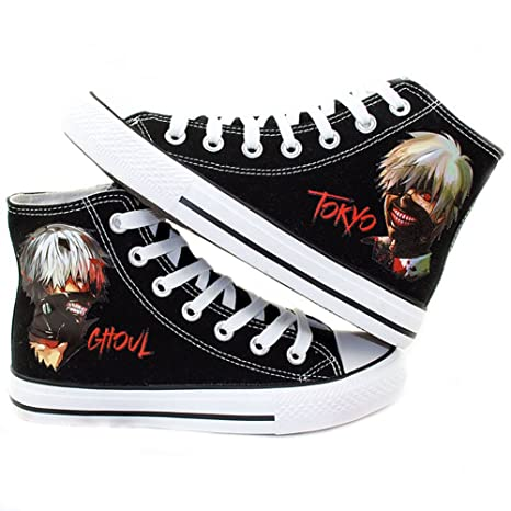Tokyo Ghoul Anime Kaneki Ken Cosplay Shoes Canvas Shoes Sneakers Black/White