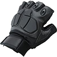 Sports Riding Boxing Parkour Half Finger Half-Finger Leather Gloves with Silicone Shell