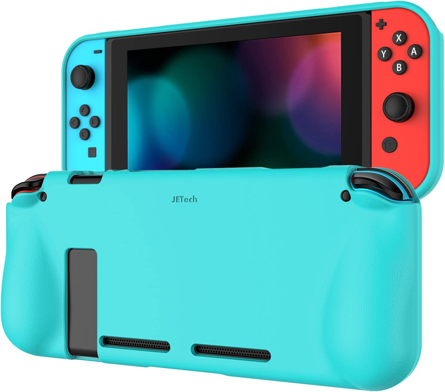 JETech Protective Case for Nintendo Switch 2017, Grip Cover with Shock-Absorption and Anti-Scratch Design (Blue)