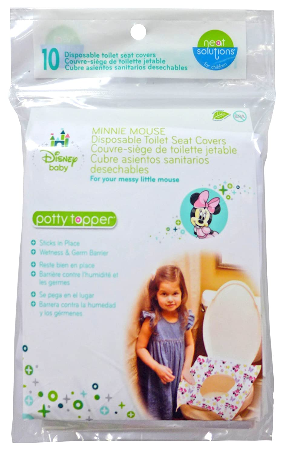 Neat Solutions Disney Minnie Mouse Potty Topper, 10-Count 10318