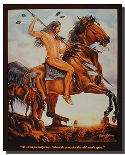 Amazon End Of The Trail Indian Native American Home Wall Decor
