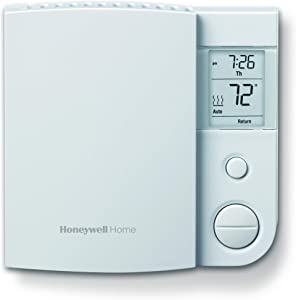 Honeywell Home RLV4305A1000/E1 Electric Baseboard Heaters Rlv4305A1000/E 5-2 Day Programmable Thermostat, 240 V, 1 Deg F, Whites
