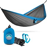 Portable Hammocks By Youphoria Outdoors - Double Hammock with Tree Straps for Backpacking and Travel (only 12 oz) - 400 lb Rated