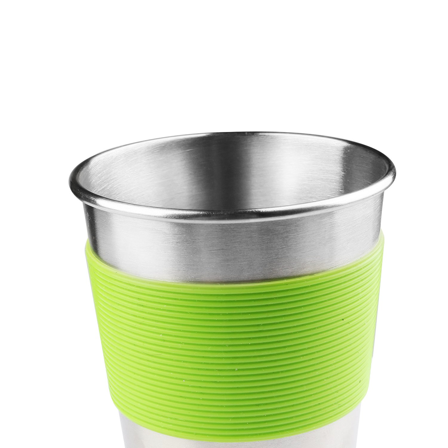 Kids Stainless Steel Cups With Silicone Lids & Sleeves, Kereda 5 Pack 11 3/4 oz. Drinking Tumblers Eco-Friendly BPA-Free for Adults, Children and Toddlers by KEREDA (Image #4)