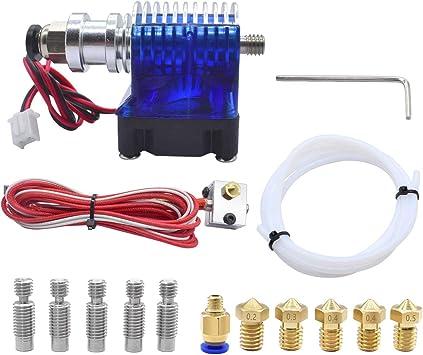 All Metal V6 J-Head Hotend Full Kit 5 Pcs Extruder Brass Print Head 5Pcs V6