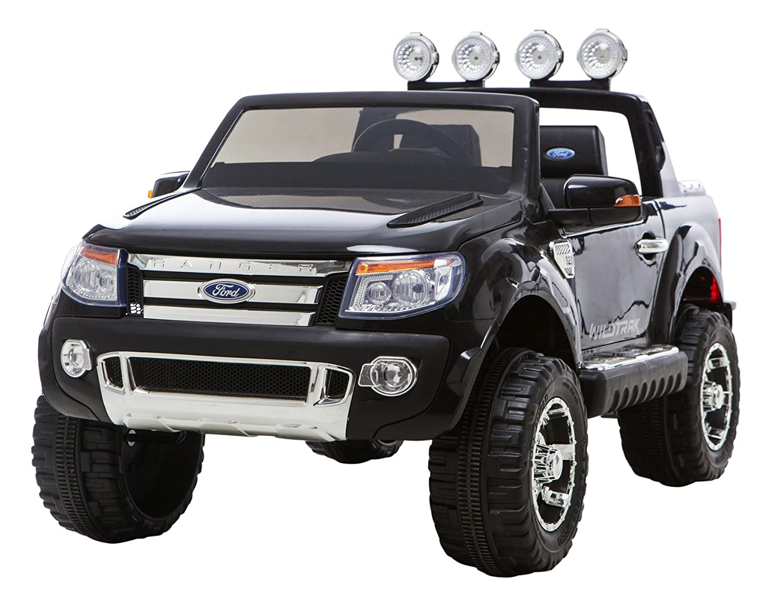 Ricco Licensed Ford Ranger Black 4x4 Kids Ride On Car With Remote Locking Hub Troubleshooting Control Led Lights And Music Toys Games