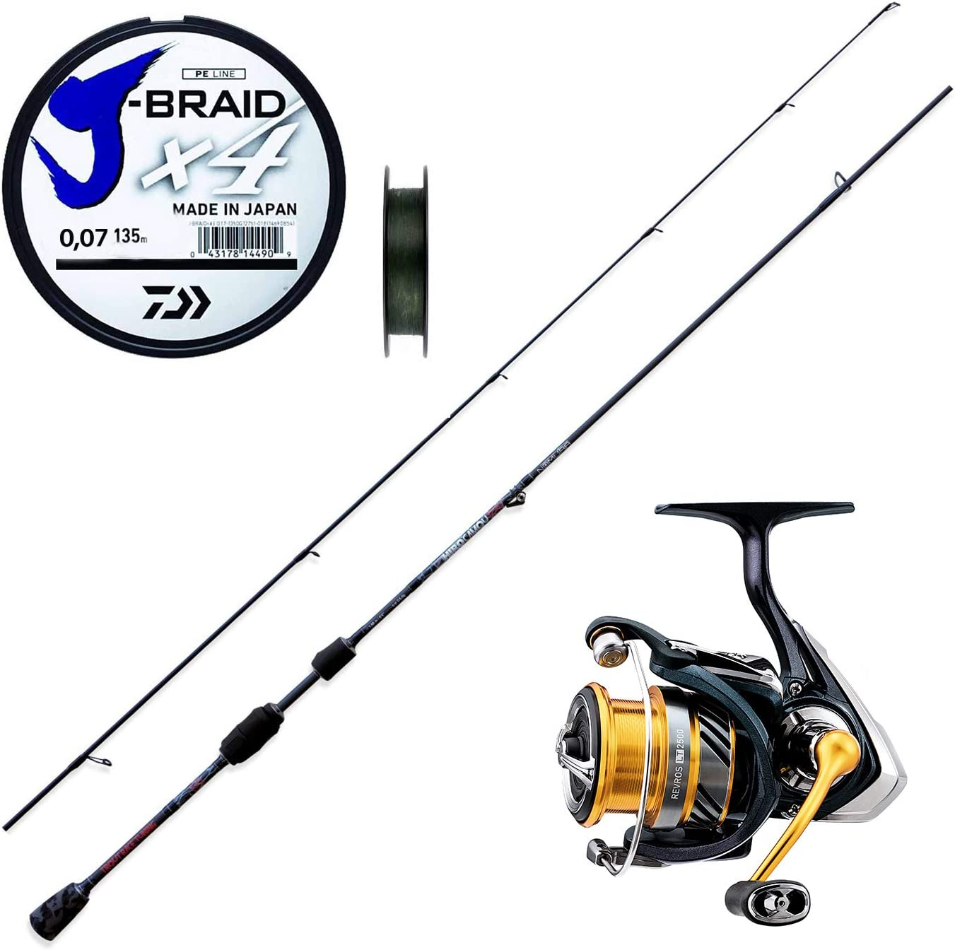 Super KI Trout Area Game caña Trout Area Hiro 198 cm + daiwa ...