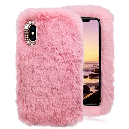 iphone xs max fluffy case