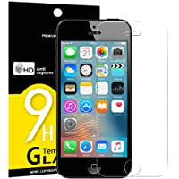 Verre Trempé iPhone 5 5S SE 5C, NEW'C Film Protection en Verre trempé écran Protecteur - ANTI RAYURES - SANS BULLES D'AIR-Ultra Résistant Dureté 9H Glass Screen Protector pour iPhone 5 / 5S / 5C / SE