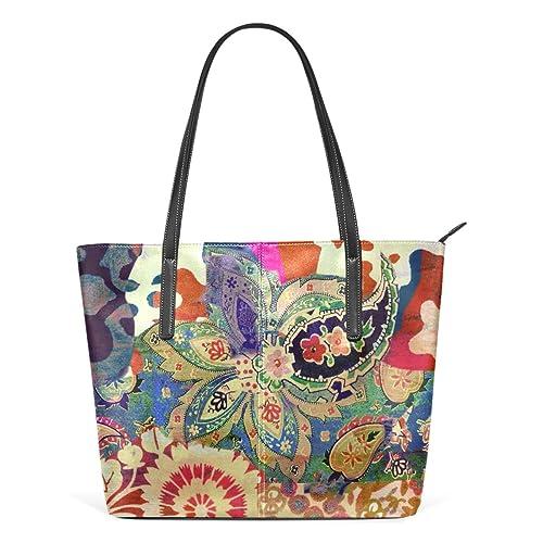 deyya arte flor pintura impresión PU Cuero Bolso Hombro Bolsa Bolso para las mujeres niñas: Amazon.es: Zapatos y complementos