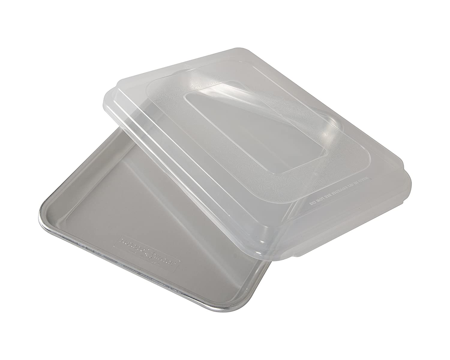 Nordic Ware Natural Aluminum Commercial Baker's Quarter Sheet with Lid