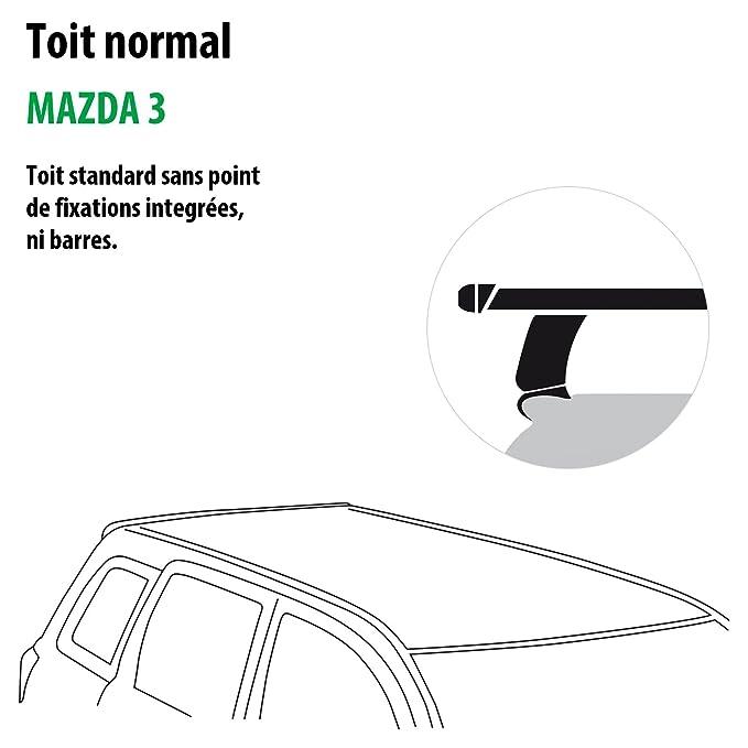 Kit completo Rameder, barras de techo tema para Mazda 3 (118805 - 08036 - 8-fr): Amazon.es: Coche y moto