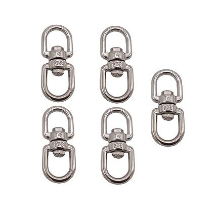 Amazon.com: D-Worthy - Juego de 5 cestas giratorias de acero ...