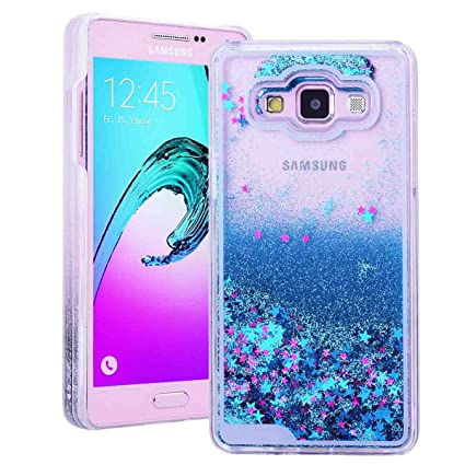 Funda para Samsung Galaxy A5 2015, SMART LEGEND Dual Layer 3D Líquido Glitter Glitter Shiny Gloss Sparkle Clear Dynamic Quicksand Case Cover Skin ...