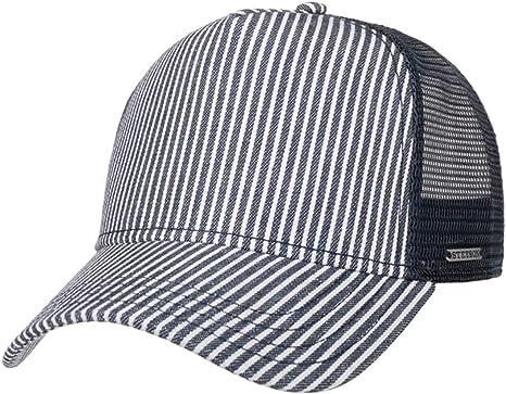 Stetson Gorra de béisbol, diseño de rayas, de algodón, para hombre ...