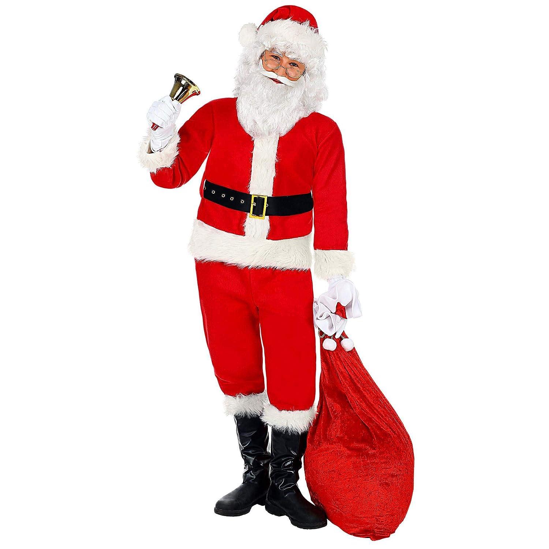 WIDMANN - Disfraz de Papá Noel para niños, multicolor, 158 cm/11 ...