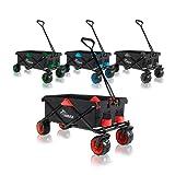 SAMAX Coaster Wagen Garten Trolley Beach Wagon Folding Foldable Hand Cart Trolley Black / Grey