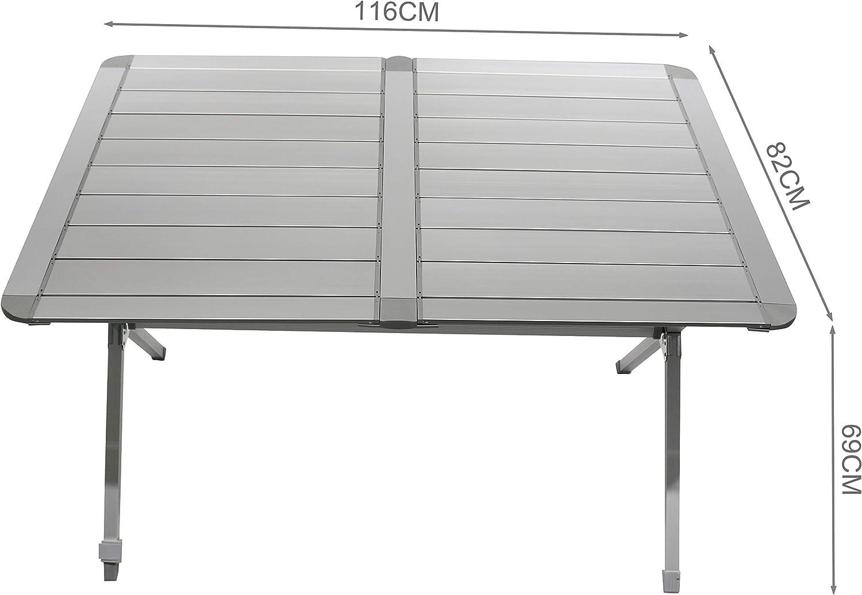avec sac de transport Homecall Table de camping pliable en aluminium