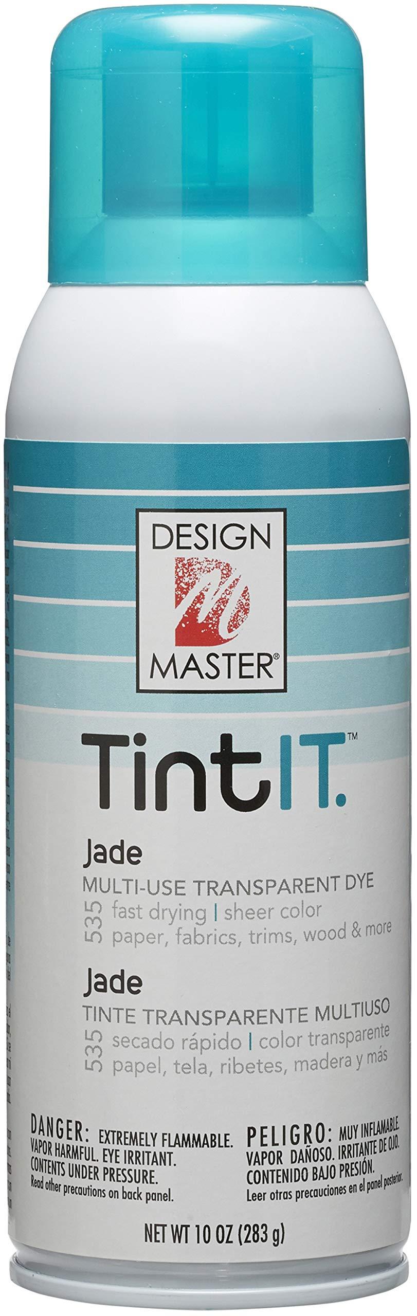 Design Master Tint IT Transparent Dye Spray Paint, 10-Ounce, Jade