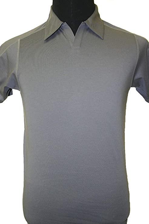 Patagonia - Slim Fit - Stretch Polo shirts (FORGE GREY, M): Amazon ...