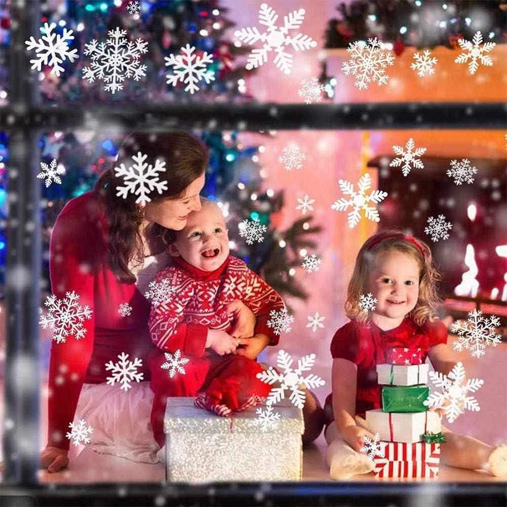 Campanas decoraci/ón de Bricolaje Tienda de Navidad Hogar Pegatinas Calcoman/ías Pandas Mall Todo en uno Ventana de Navidad Pegatinas est/áticas Decoraci/ón de Pared de Vidrio Adornos Copos de Nieve
