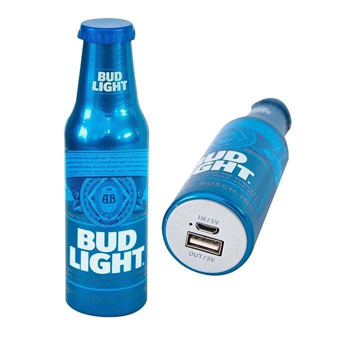 amazon com bud light power bank portable metal charger battery