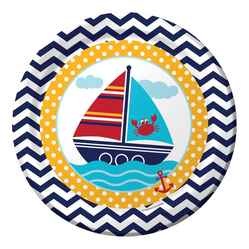 Creative Converting 8 Count Ahoy Matey Dinner Paper Plates 427226